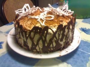 Торт кофе со сливками