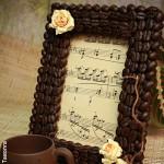 Рамочка из кофейных зерен