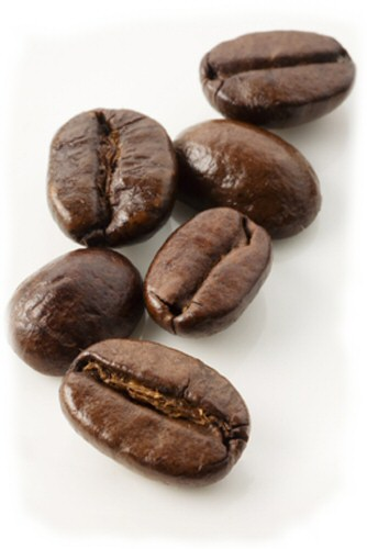 Close-up of coffee beans.